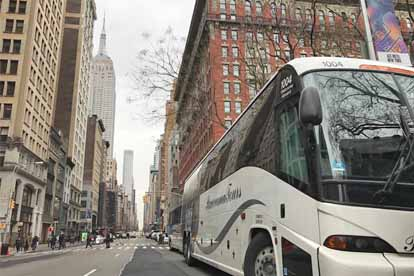 New York group food and wine charter bus