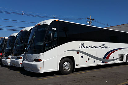 Panorama Tours Fleet, Charter Bus Rental New York